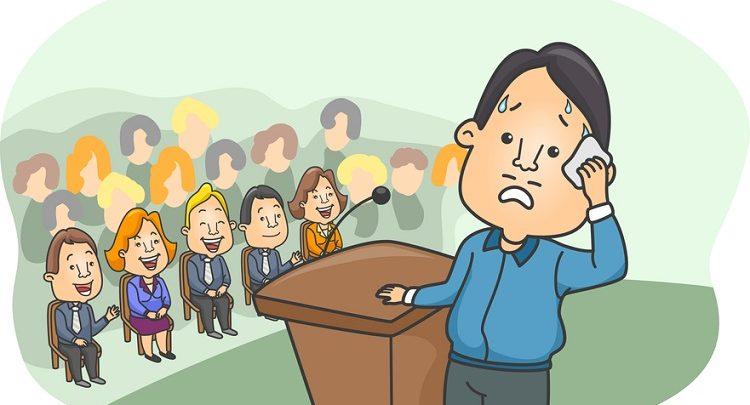 تصویر از صحبت کردن در جمع
